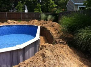 Semi Inground Pools Construction - Long Island Pool Construction